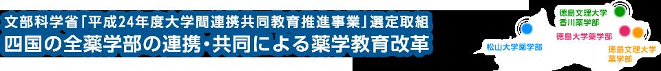 四国の全薬学部の連携・共同による薬学教育改革